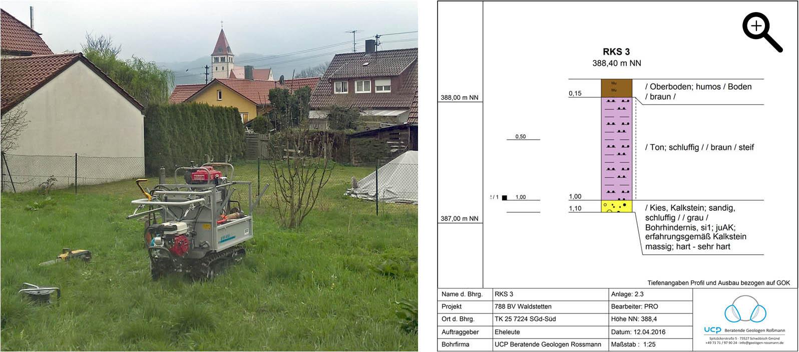 Bodenuntersuchung für ein Einfamilienhaus in Waldstetten