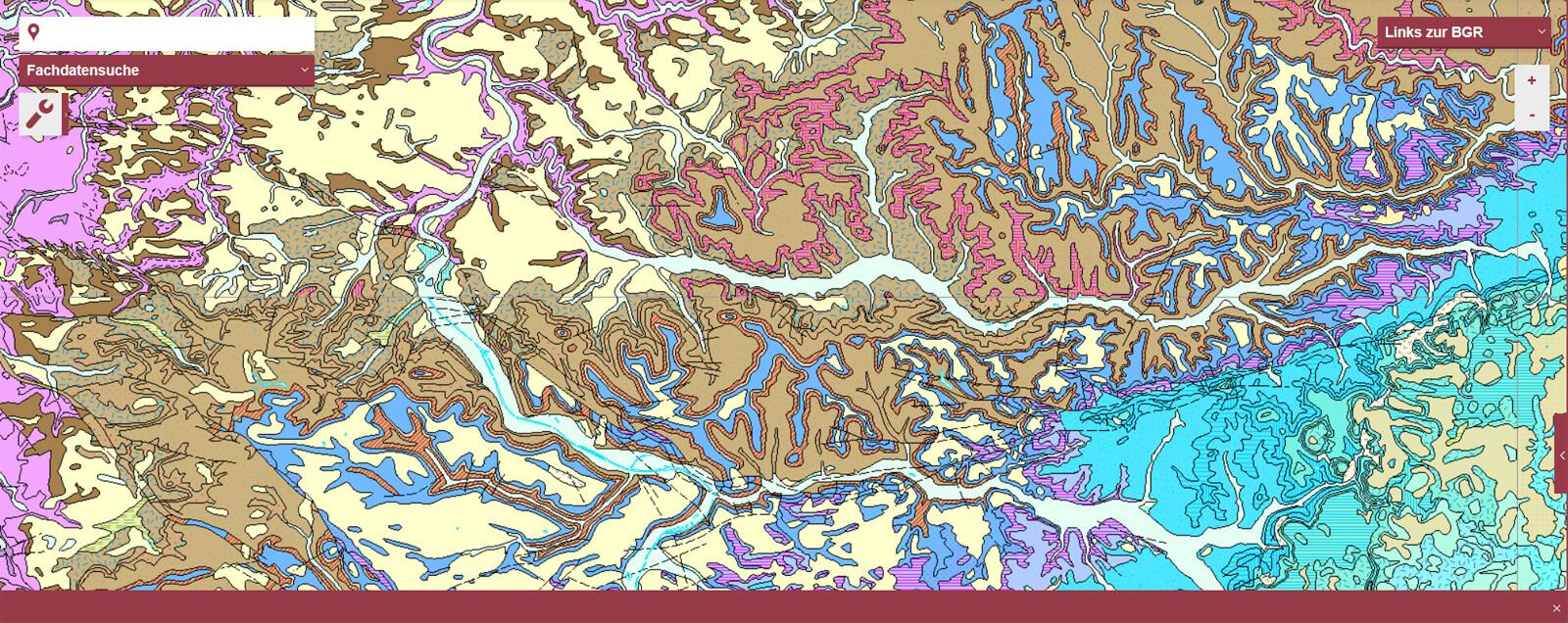 Geologische Karte Mittlerer Neckarraum